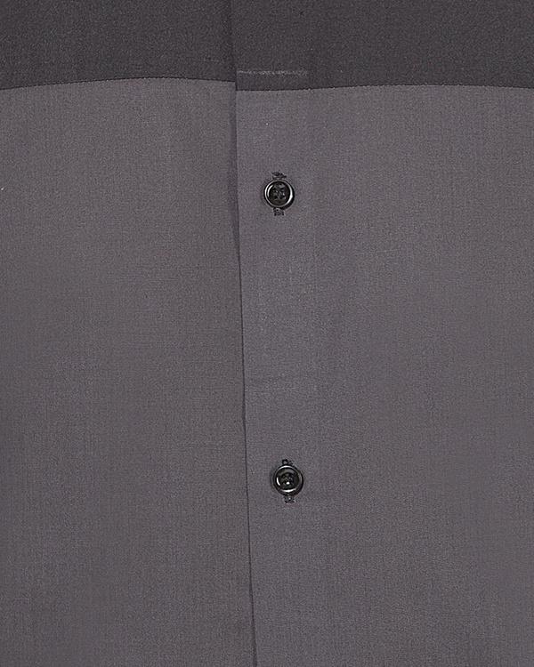 Grey & black panel casual shirt 2
