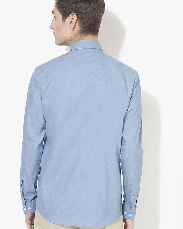 Light blue solid casual shirt 1