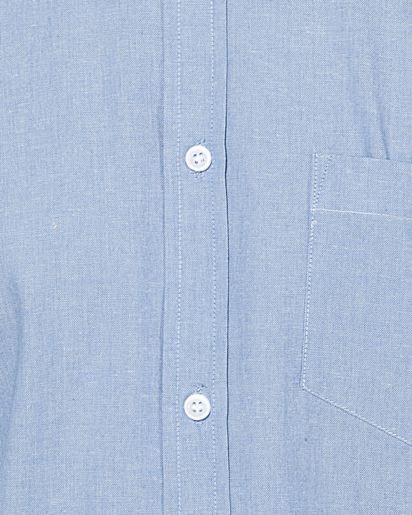Light blue solid casual shirt 2