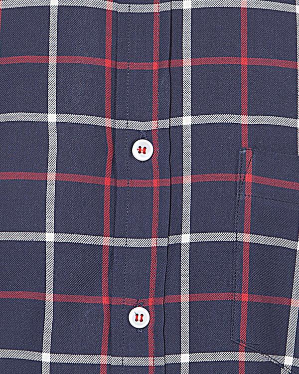 Red & blue executive checks casual shirt 2