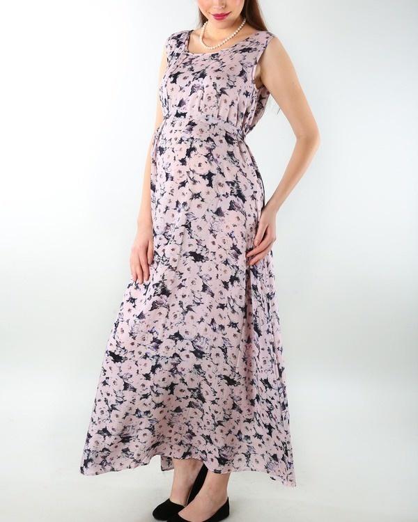 Pastel pink maternity evening dress 2
