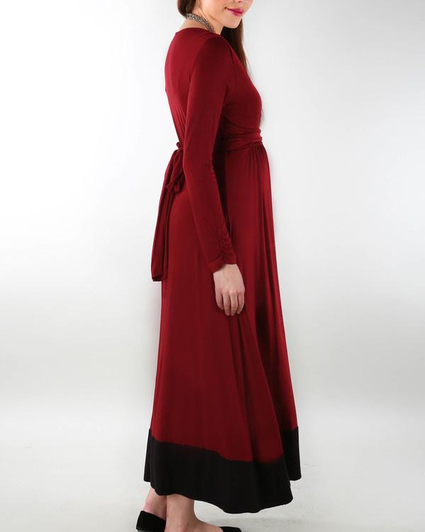 Wine maternity dress 1