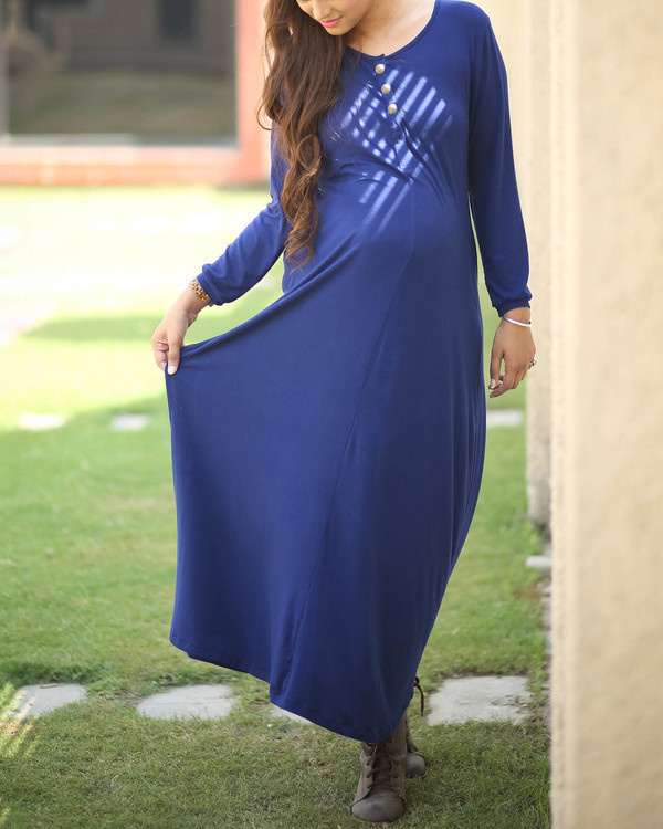 Blue maternity dress 1