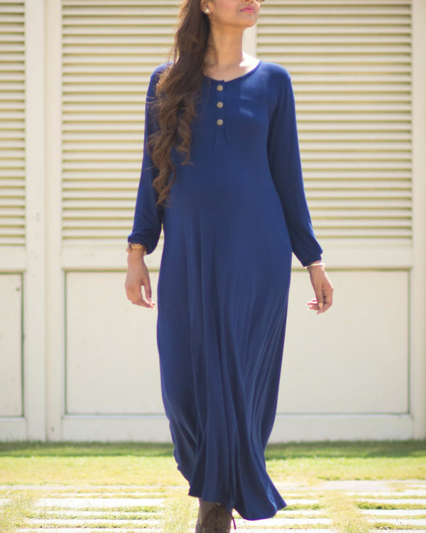Blue maternity dress 2