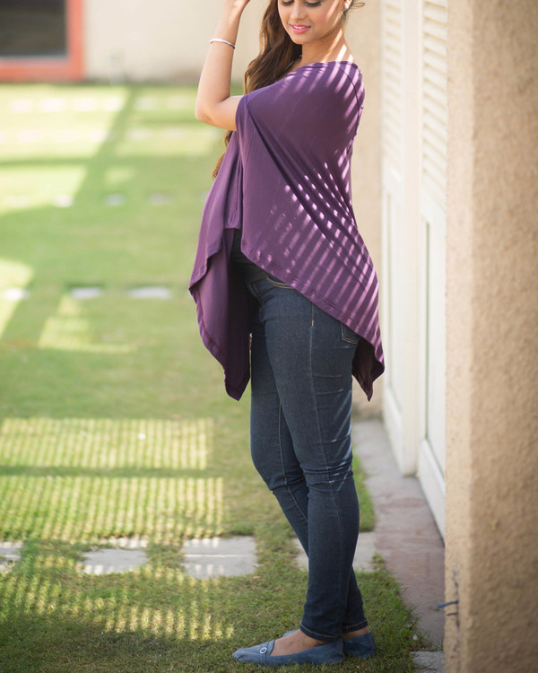 Purple maternity top 1
