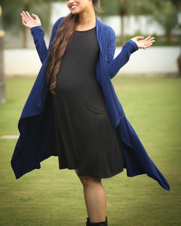 Black maternity dress 1
