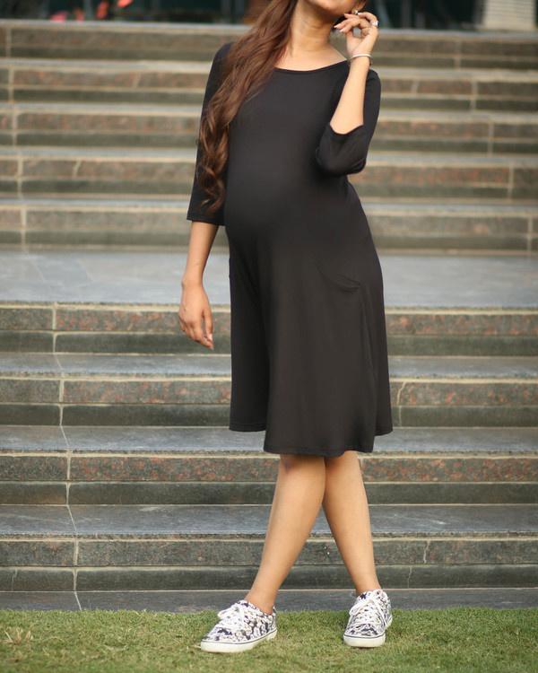 Black maternity dress 2