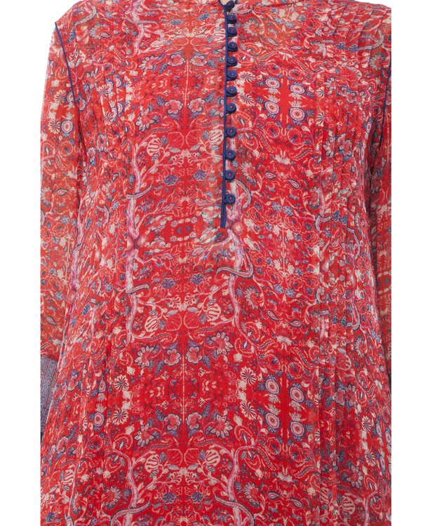 Printed tunic with printed palazzo 1