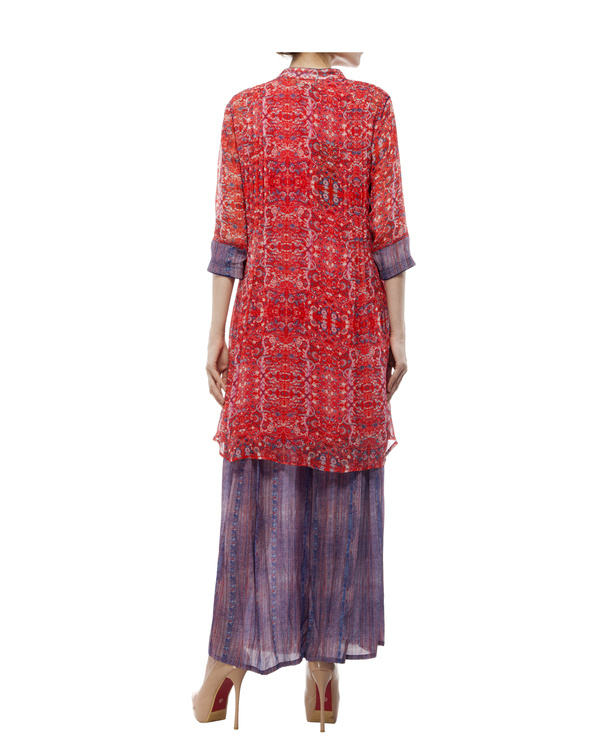 Printed tunic with printed palazzo 2
