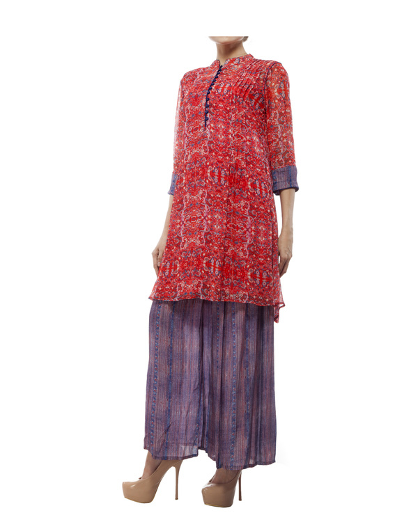 Printed tunic with printed palazzo 3