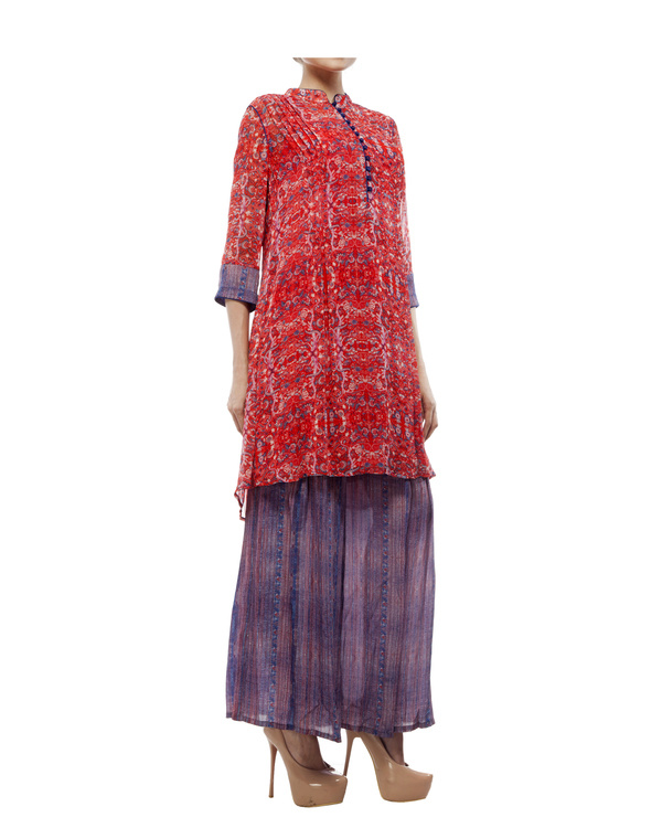 Printed tunic with printed palazzo 4