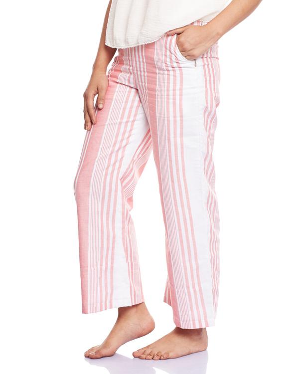 Striped pink culottes 1