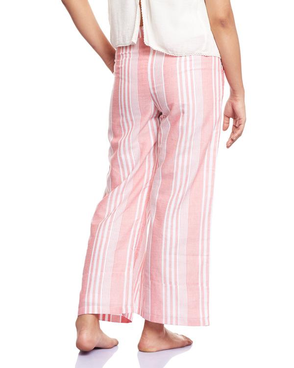 Striped pink culottes 2