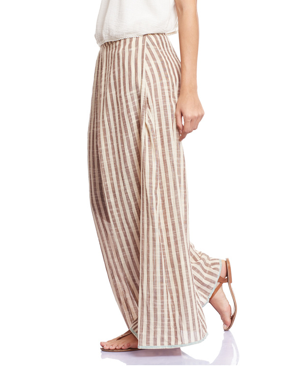 Striped grey palazzos 1
