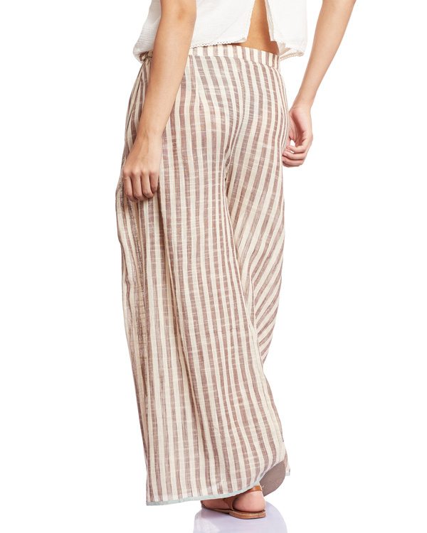 Striped grey palazzos 2