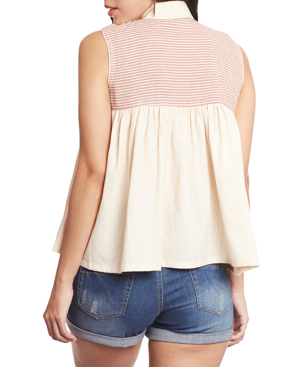 Striped beige top 3
