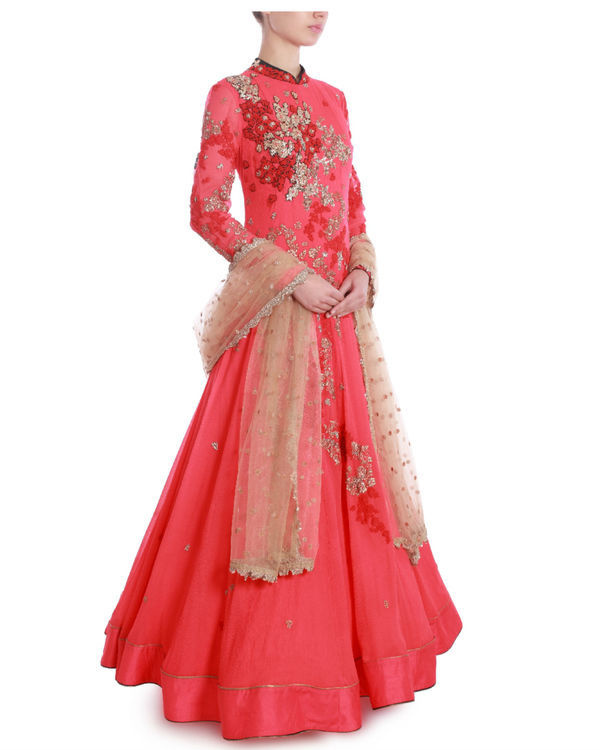 Rose of sharon floor length kaidaar 1