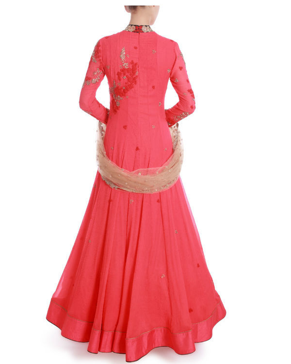 Rose of sharon floor length kaidaar 2