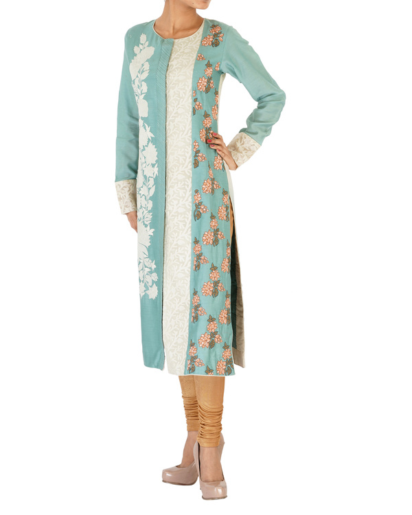 Ashblue straight chanderi kurta set 3