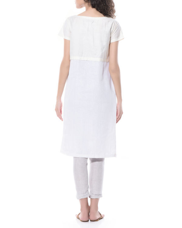 Linen bird embroidered dress 1