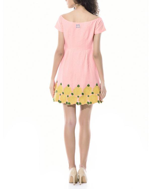 Off shoulder floral linen dress 1