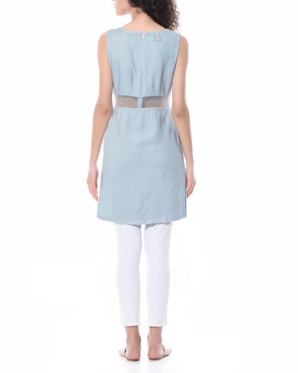 Linen peek-a-boo dress 2