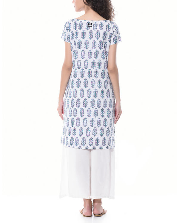 Hand printed tunic with palazzos 1