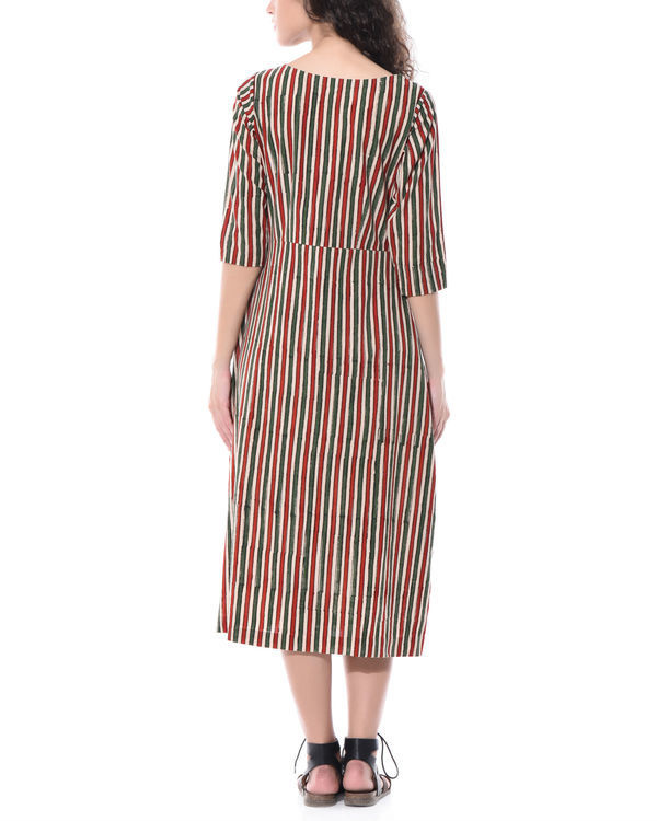 Striped hand printed dress 1