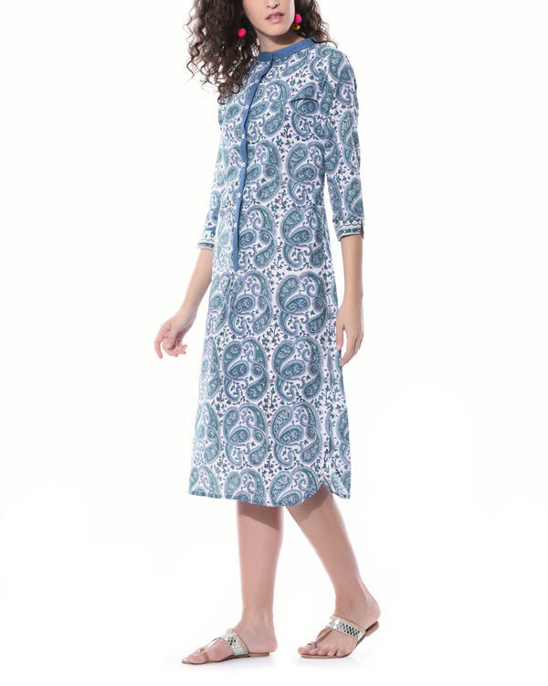 Paisley hand printed dress 1