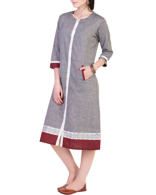 Grey mangalgiri dress 1
