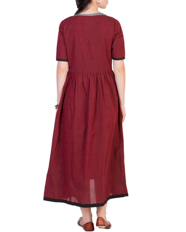 Maroon tunic with grey inner 2