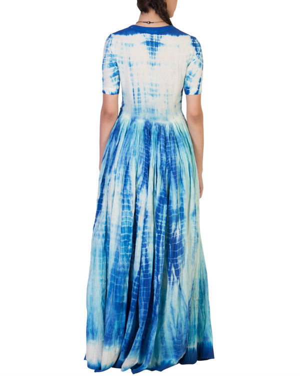 Blue tye and dye maxi 1