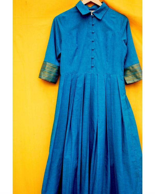 Mangalgiri blue dress 1