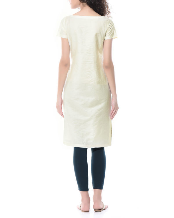 Straight linen embroidered tunic 2