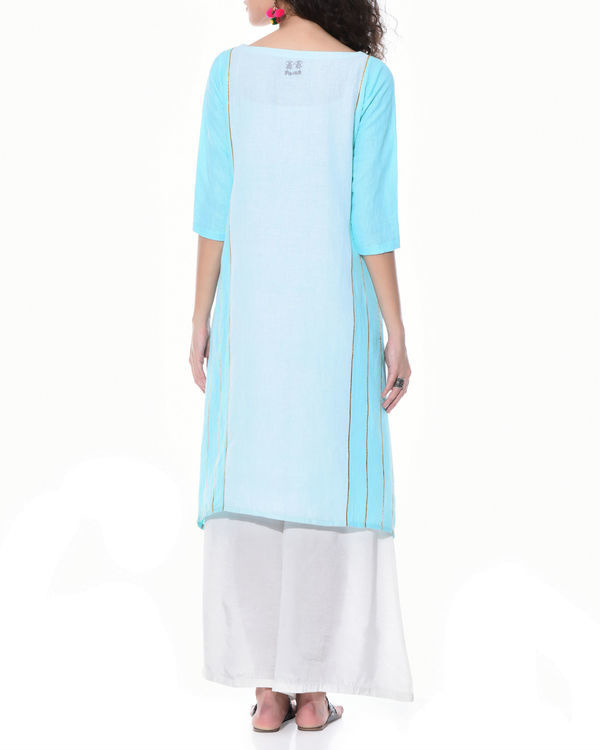 Blue boho chic tunic 2