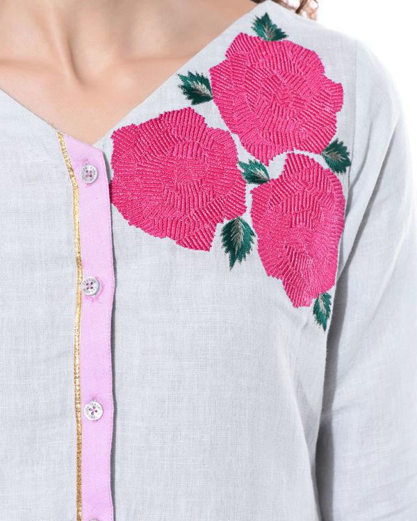 Linen shirt dress 3
