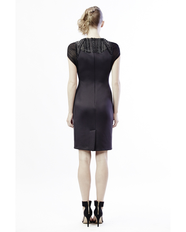 Mesh and embroidered shift dress 2