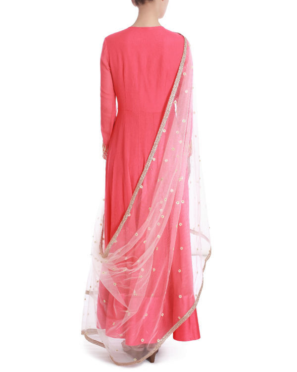 Rose demure floor length kalidaar 2