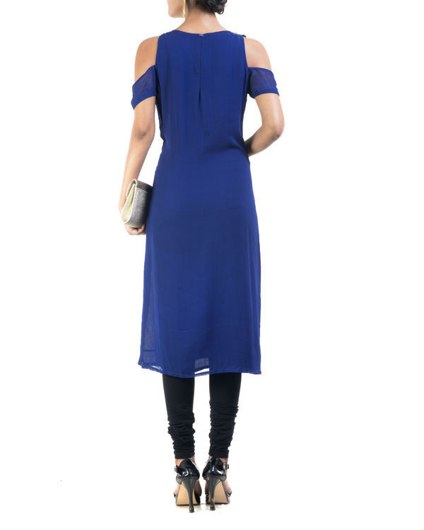 Blue cold shoulder tunic 1
