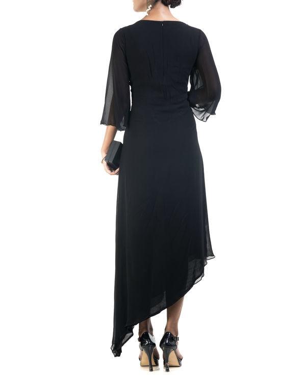 Black asymmetrical dress 1