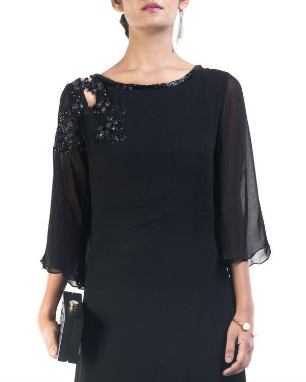 Black asymmetrical dress 2