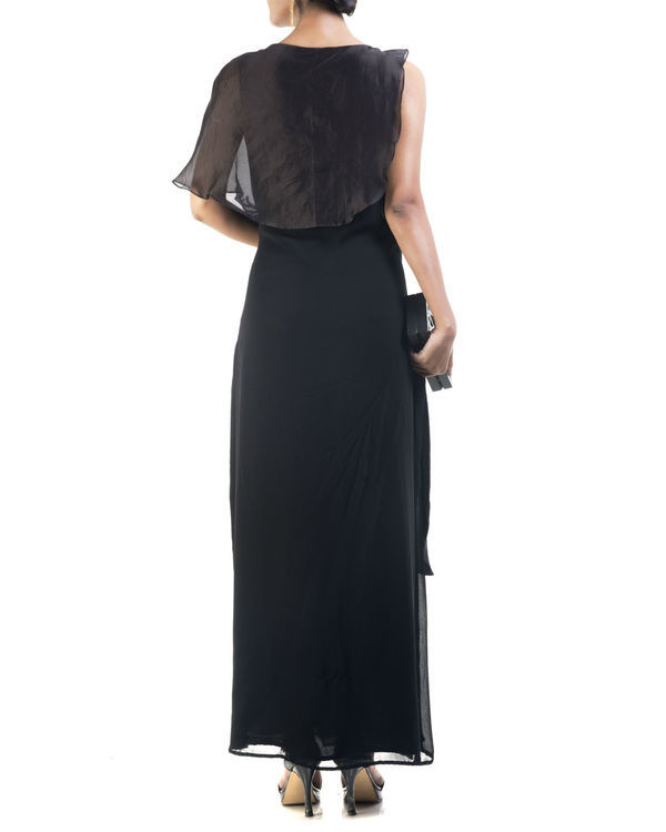 Black double layered tunic 1