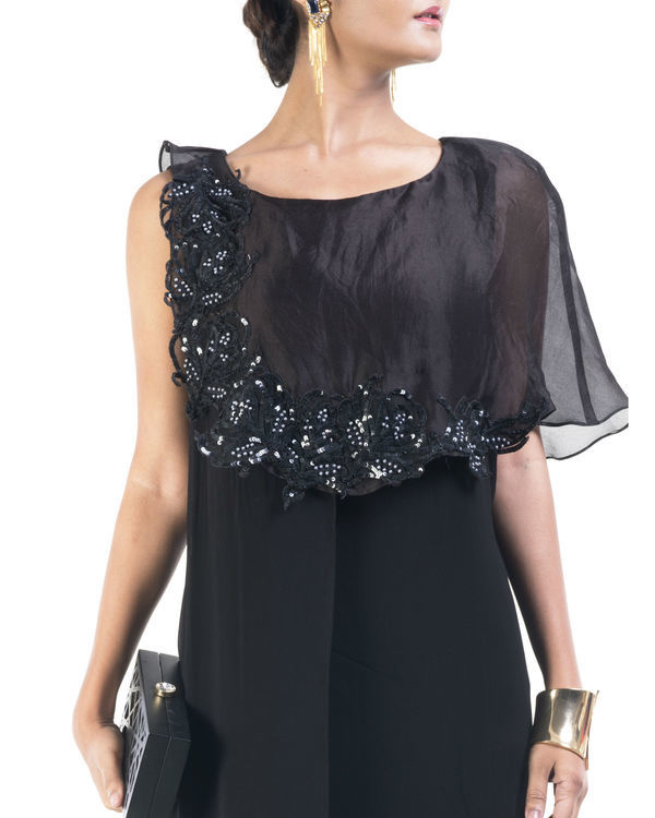 Black double layered tunic 2