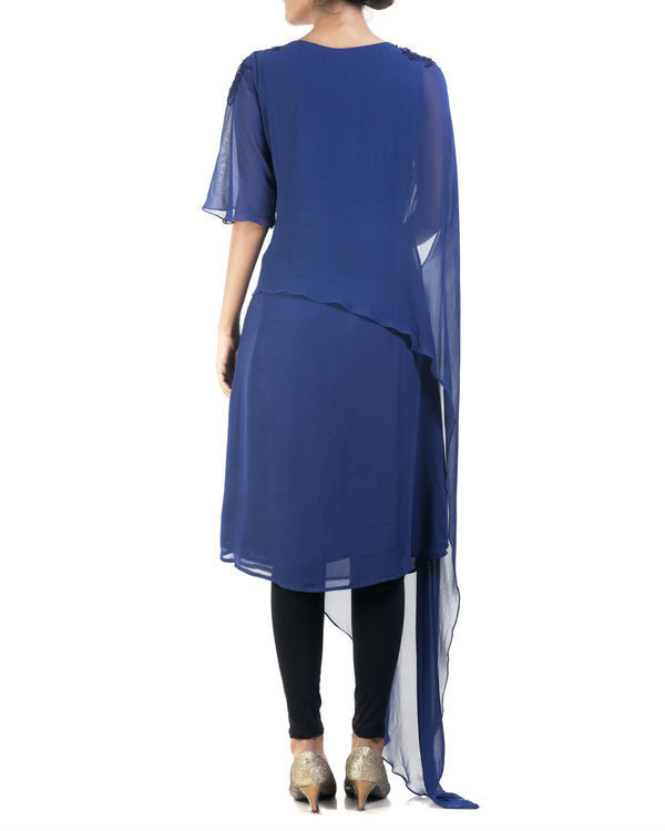 Blue double layered tunic 1