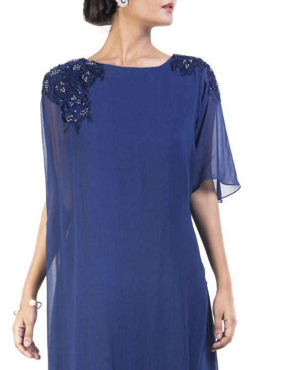 Blue double layered tunic 2