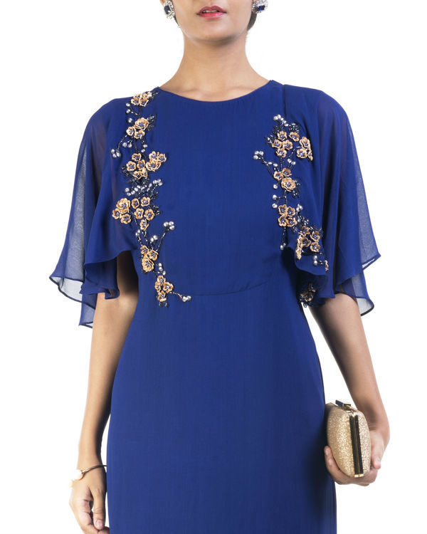 Blue embroidered tunic 2