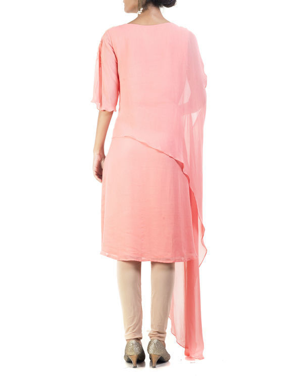 Peach double layered tunic 1