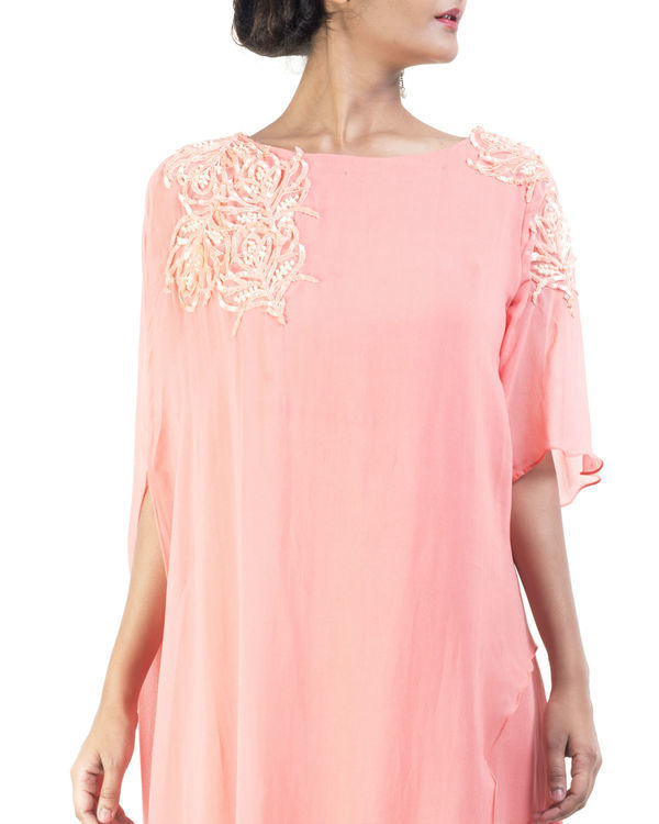 Peach double layered tunic 2