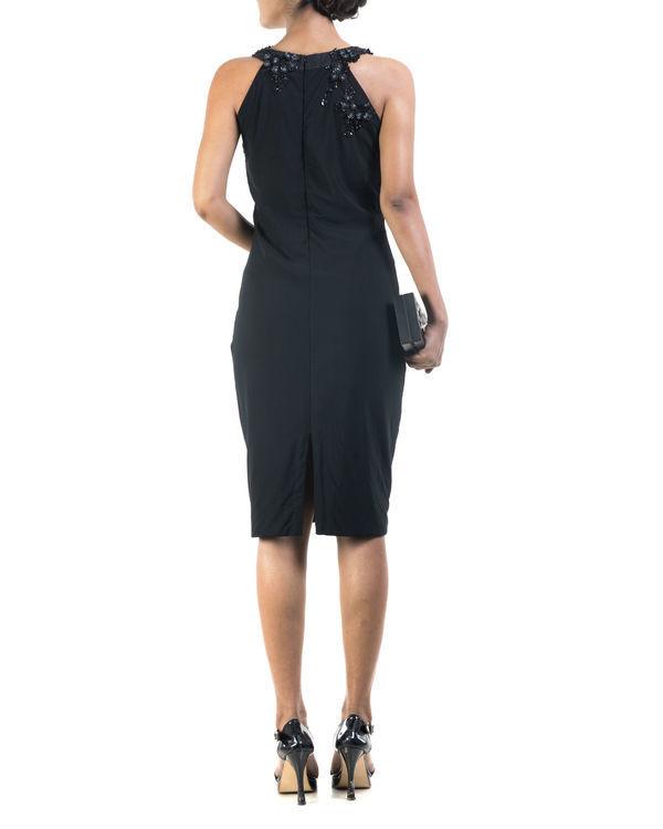 Black lycra pencil dress 1