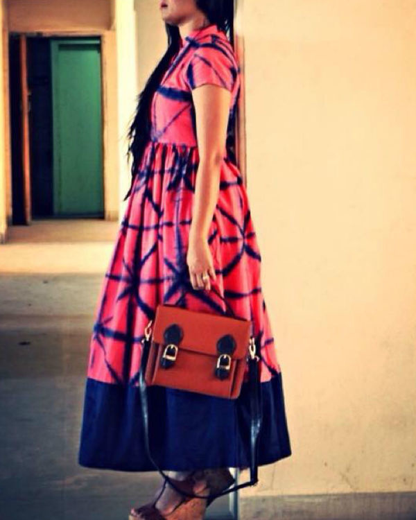 Pink tie and dye dress 1